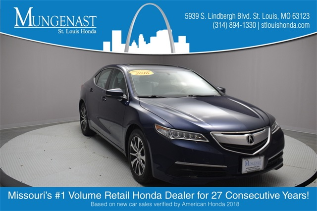 Acura Dealers St Louis >> Pre Owned 2016 Acura Tlx 2 4l 4d Sedan For Sale P14782 Mungenast